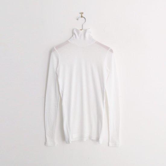 ゴーシュ   スーピマカシミアフライスハイネックカットソー White   F019202TT429