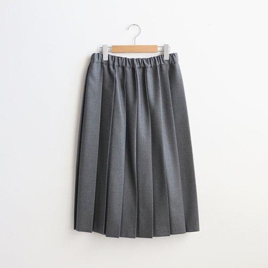 Charpentier de Vaisseau | ウールプリーツスカート〈 Belle 〉Grey | C003162PS087