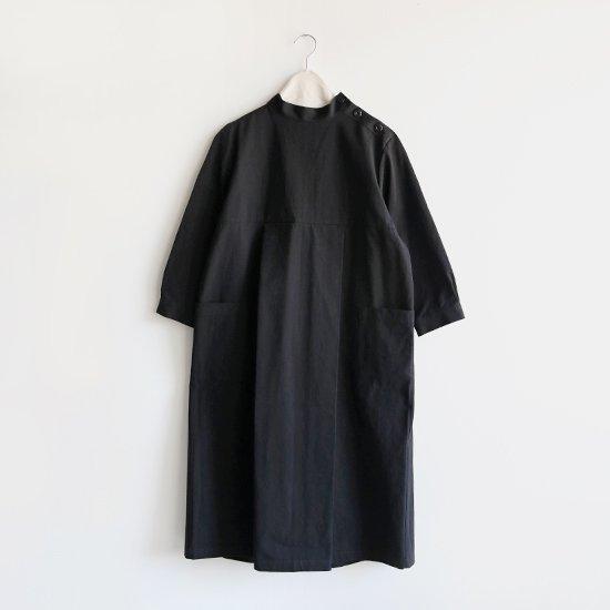 Lin Francais D'antan<br>スタンドカラーワンピース<br>〈 Kott 〉<br>Black