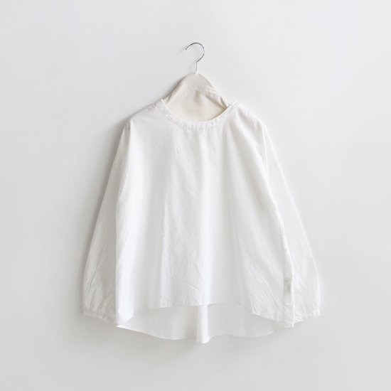Style+confort<br>クルーネックブラウス<br>White