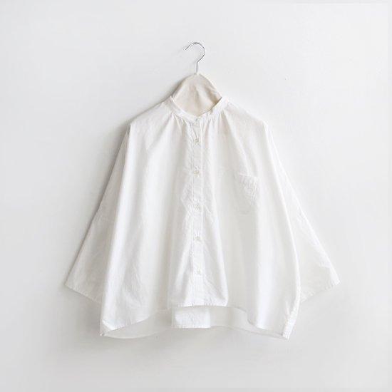 Style+confort<br>バンドカラーシャツ<br>White