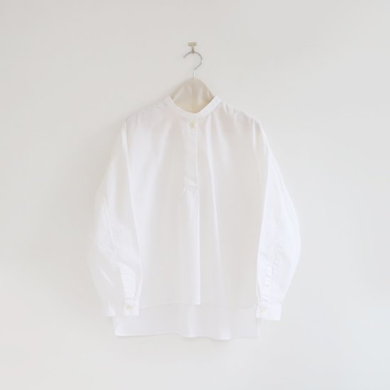 Style+confort<br>スタンドカラーシャツ<br>White