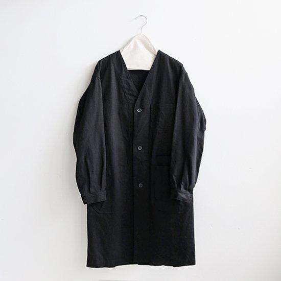 ゴーシュ | カツラギノーカラーコート Black | F019192TC369