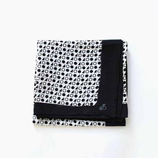 Lin Francais D'antan<br>シルクスカーフ<br>〈 Rothko 〉<br>Black Pattern 1