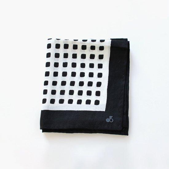 Lin Francais D'antan<br>シルクスカーフ<br>〈 Rothko 〉<br>Black Pattern 2