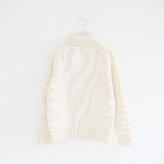 Charpentier de Vaisseau | ラムウールタートルニット〈 Kalila 〉White | C003192TK351