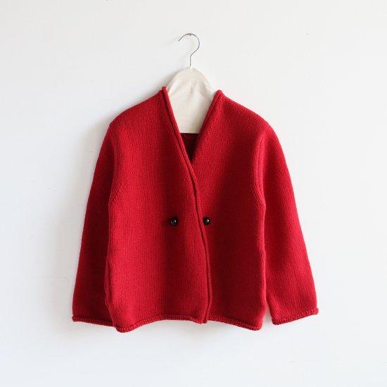Atelier d'antan | アシンメトリーニットジャケット〈 Degas 〉Red | A232181TK347