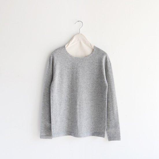 糸衣 | カシミヤクルーネックニット〈 Yuzu 〉Grey | E009192TK310