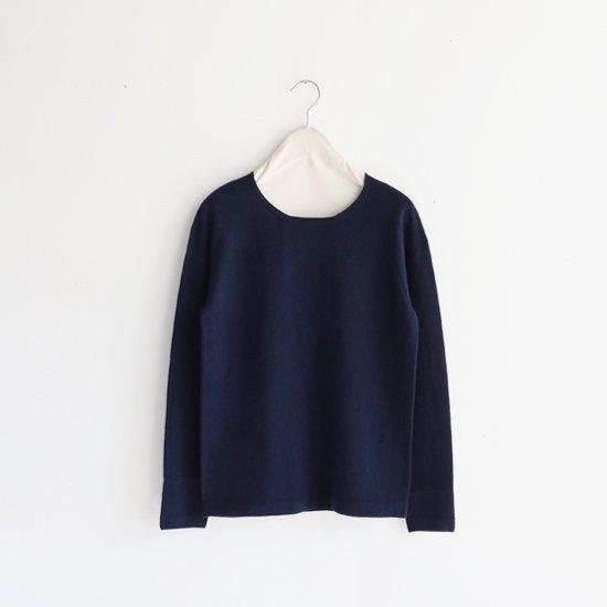 糸衣 | カシミヤクルーネックニット〈 Yuzu 〉Navy | E009192TK310