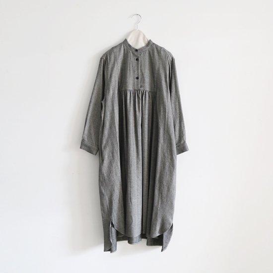 Atelier d'antan | スタンドカラーワンピース〈 Wendel 〉White×Black | A232192TD384