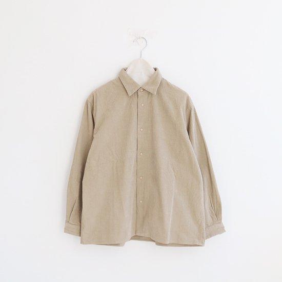 Yaeca Women<br>コーデュロイコンフォートシャツ<br>Beige