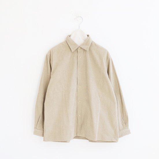 Yaeca Men<br>コーデュロイコンフォートシャツ<br>Beige
