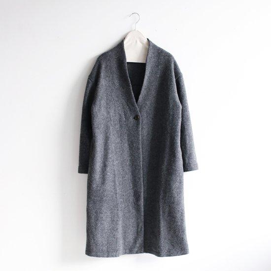Style+Confort<br>ウールワンボタンコート<br>Dark Grey
