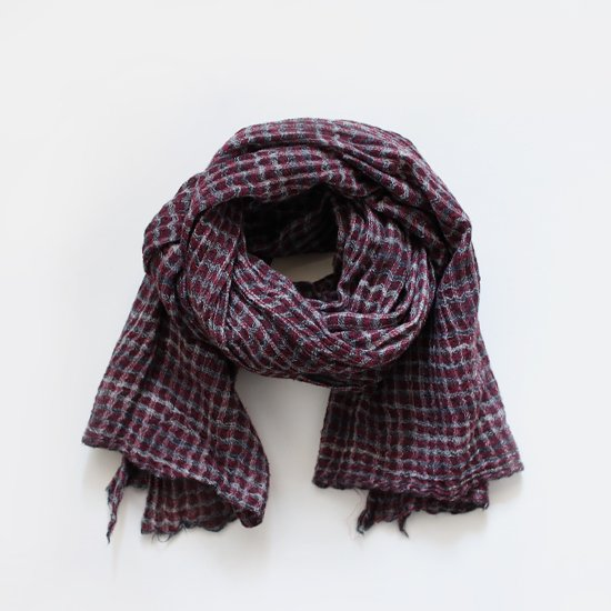 Khadi and Co.<br>ウールスカーフ<br>Red Check