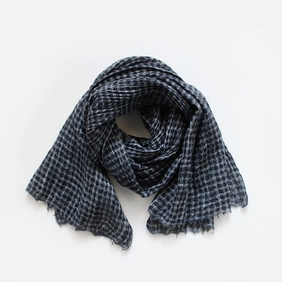 Khadi and Co.<br>ウールスカーフ<br>Black Check