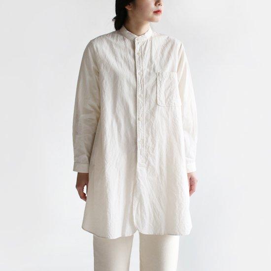 Yaeca Write<br>スタンドカラーロングシャツ<br>Light Beige