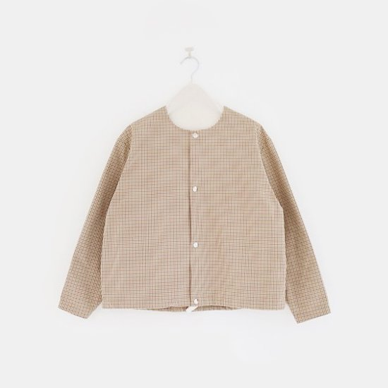Charpentier de Vaisseau<br>ノーカラーブルゾン<br>〈 Tim 〉<br>Brown×Yellow Check
