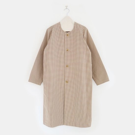 Charpentier de Vaisseau | ノーカラーコート〈 Tally 〉Brown × Yellow Check | C003201TC366