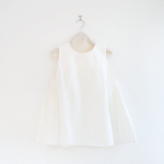 Atelier d'antan | スリーブレスギャザートップ〈 Arbus 〉White | A232201TS409