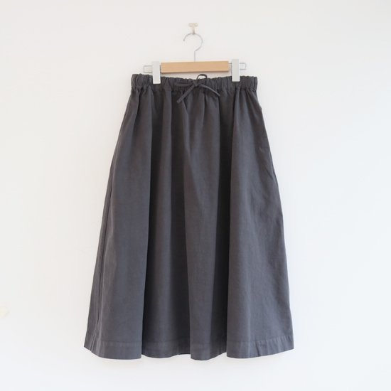 Atelier d'antan | サーキュラースカート〈 Brunel 〉Dark Grey | A232201PS410