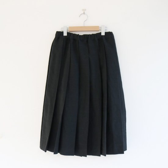 Charpentier de Vaisseau<br>リネンプリーツスカート<br>〈 Belle 〉<br>Black