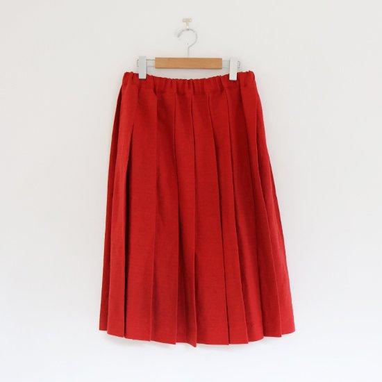 Charpentier de Vaisseau | リネンプリーツスカート〈 Belle 〉White | C003201PS384