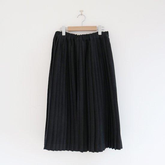 Charpentier de Vaisseau<br>リネンナロープリーツスカート<br>〈 Brenda 〉<br>Black