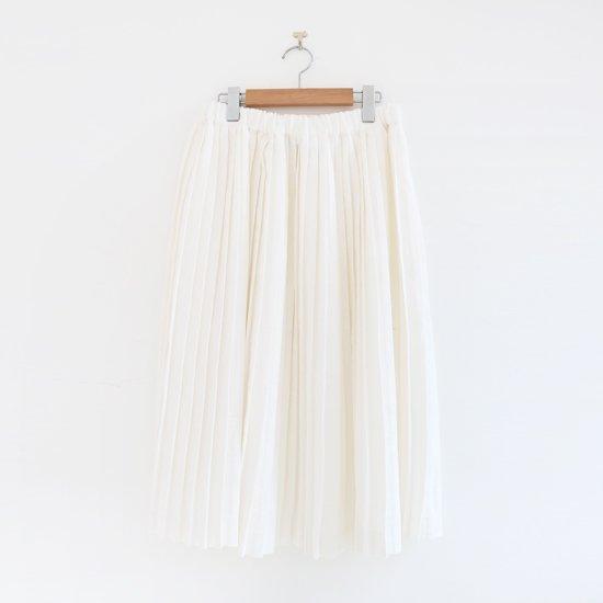 Charpentier de Vaisseau<br>リネンナロープリーツスカート<br>〈 Brenda 〉<br>White
