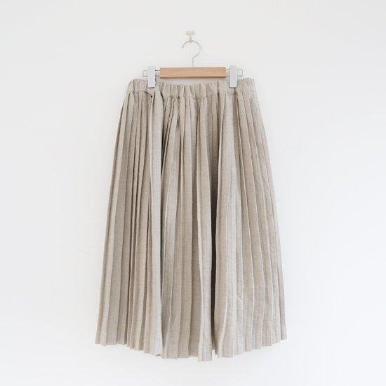 Charpentier de Vaisseau<br>リネンナロープリーツスカート<br>〈 Brenda 〉<br>Natural