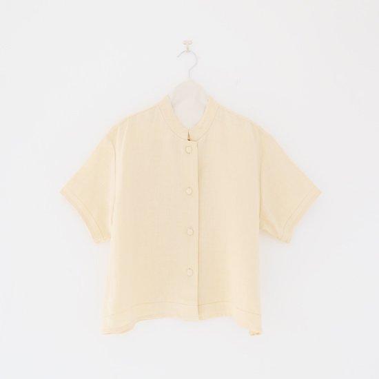 Atelier d'antan   スタンドカラーショートスリーブシャツ 〈 Drake 〉 Natural   A232201TS400