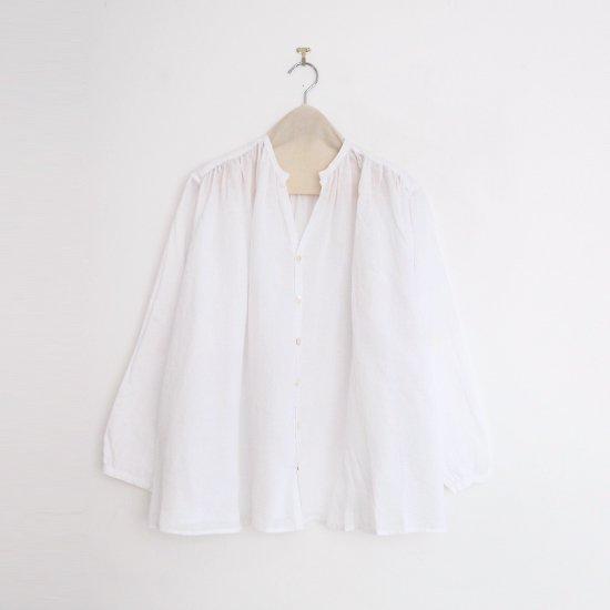 Style+Confort   リネンギャザーブラウス White   F007201TS171