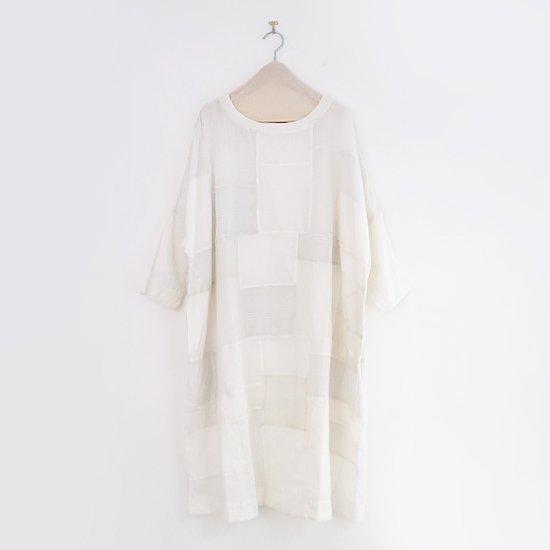 Aodress<br/> パッチワークドレス<br>White