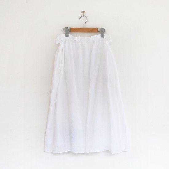 ゴーシュ | リネンコットンダイスカート White | F019201PS408