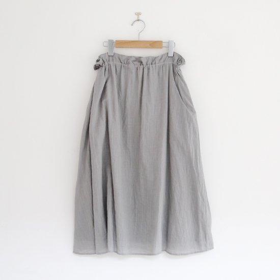 ゴーシュ<br/>リネンコットンダイスカート<br/>Light Grey
