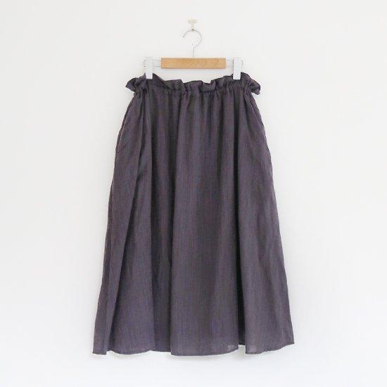 ゴーシュ | リネンコットンダイスカート Dark Grey | F019201PS408