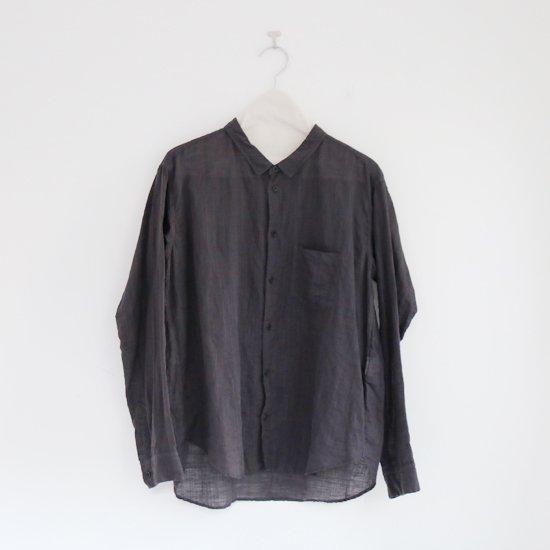 ゴーシュ<br>リネンコットンダイシャツ<br>Dark Grey