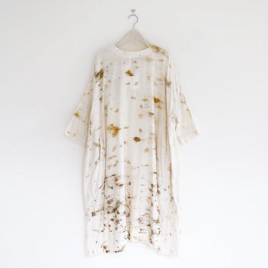 Aodress<br/> ハンドプリントドレス<br>White