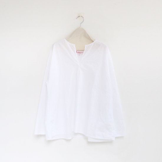 Manuelle Guibal<br>スキッパーブラウス<br>White