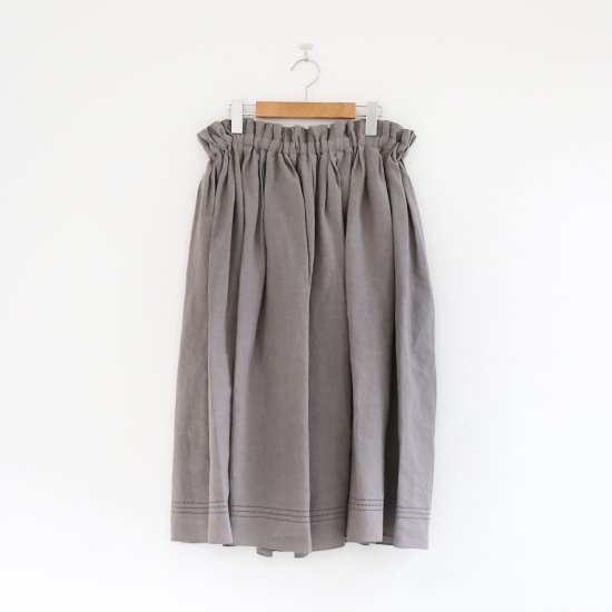 Atelier d'antan  | ギャザースカート〈 Nordal 〉Grey | A232201PS403