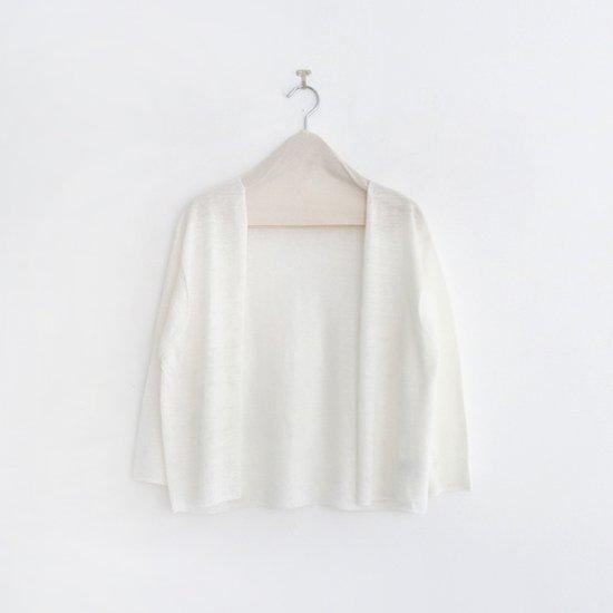 Atelier d'antan<br>リネンニットカーディガン<br>〈 Lely 〉<br>White