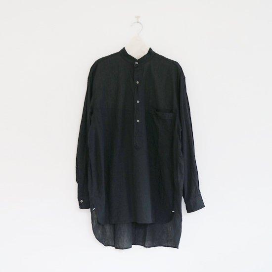 Comoli<br>ベタシャンプルオーバーシャツ<br>Black