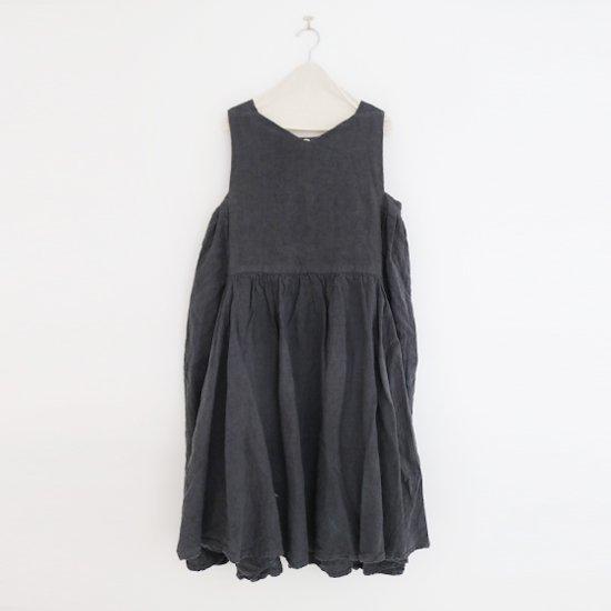 Ricorrrobe | ヘビーリネンノースリーブドレス〈 q 〉Black | D111201TD023