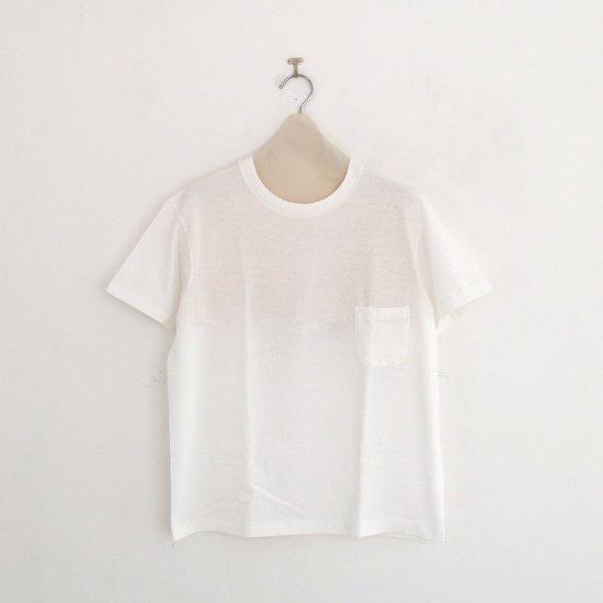 Yaeca | クルーネックポケットTシャツ White | F052201TT124/132