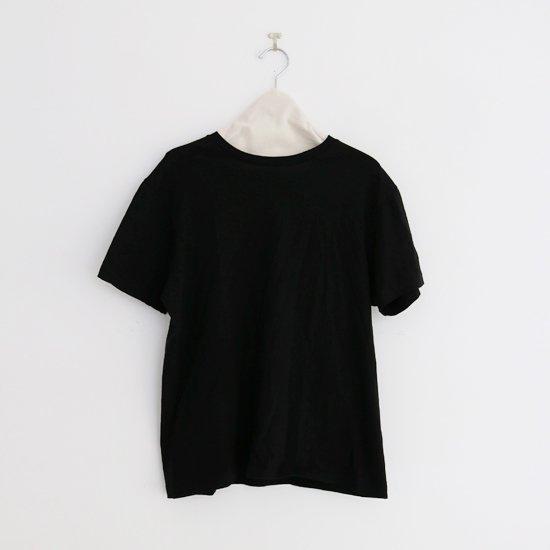 Yaeca | クルーネックTシャツ Black | F052201TT123/131