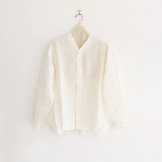 Style+confort | リネンVネックシャツ White | F007201TS174