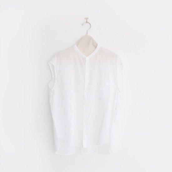 ゴーシュ | リネンコットンダイフレンチスリーブシャツ White | F019201TS405