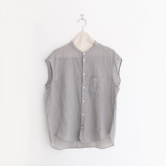 ゴーシュ | リネンコットンダイフレンチスリーブシャツ Light Grey | F019201TS405