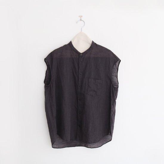 ゴーシュ | リネンコットンダイフレンチスリーブシャツ Dark Grey | F019201TS405