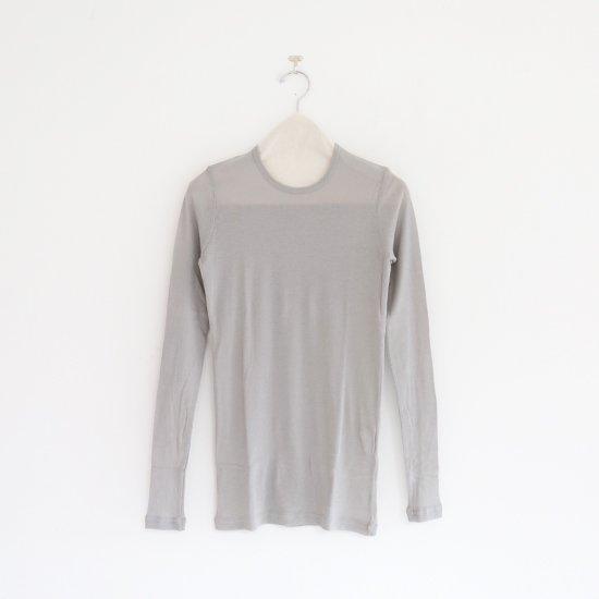 ゴーシュ | 60/1コットンフライスロングスリーブ Light Grey | F019201TT396