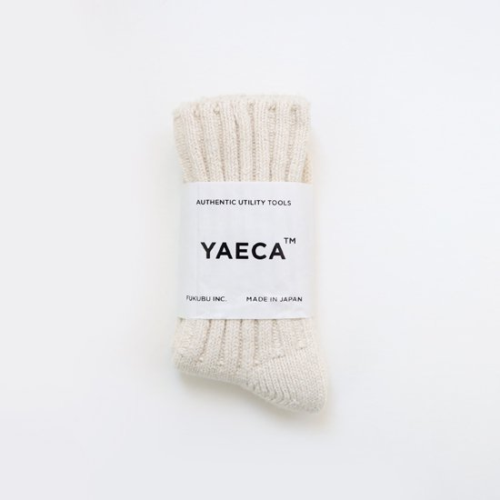 YAECA | シルクコットンリブソックス White | F052201FS120
